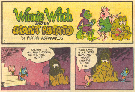 Winnie Witch and hte Giant Potato by Peter Adamakos
