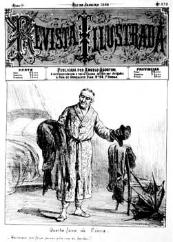 Cover of Revista Illustrada, by Angelo Agostini