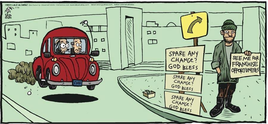 La cucaracha comic strip smoking