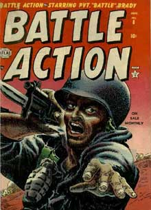 Battle Action cover by Harry Anderson