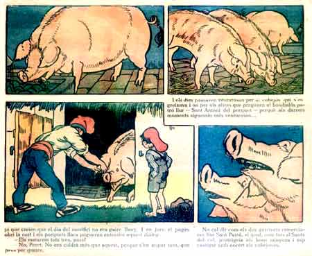 comic page from Virolet by Lola Anglada (1925)