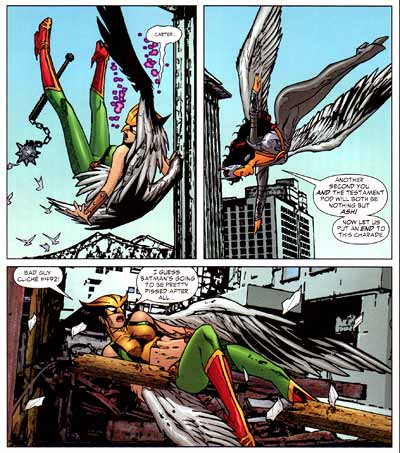 Backfire vs. Hawkgirl #59, art by Renato Arlem (Feb. 2007)