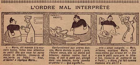 L'Ordre mal Interprété, by Marcel Arnac (Fillette)