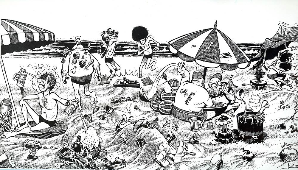 The Beach, by Muhammad az-Zuwawi at Tarhuni
