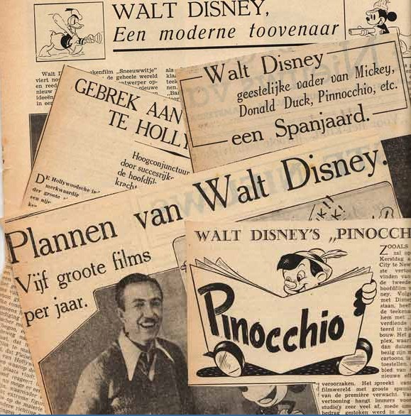 krantenartikelen over Walt Disney