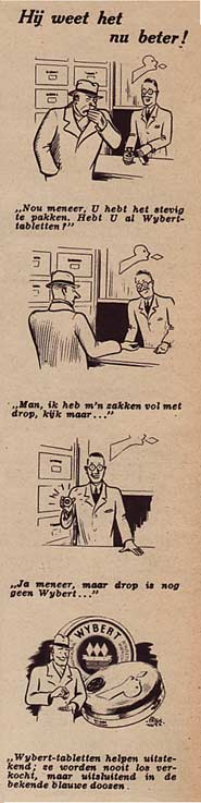 Wybert reclamestrip door Peter Lutz
