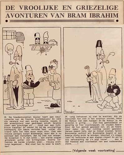 De Vroolijke en Griezelige Avonturen van Bram Ibrahim, door Marten Toonder 1934