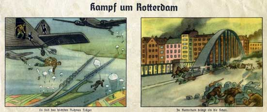 Battle for Rotterdam, German propaganda