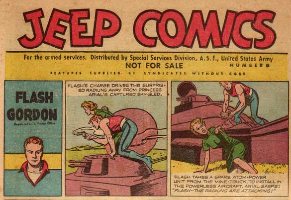 Flash Gordon in Jeep Comics