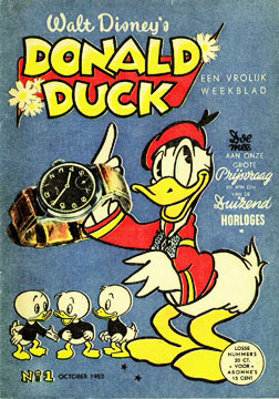 De eerste Donald Duck, october 1952