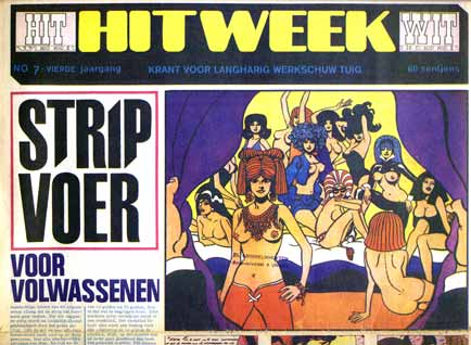 Hitweek 1968, cover Thé Tjong-Khing