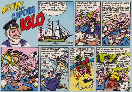 Kapitein Iglo strip uit Donald Duck