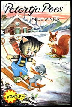 Petertje Poes in de winter, door Albert van Beek