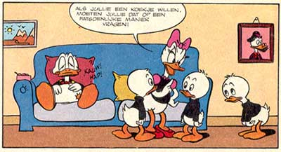 Donald Duck, door Windig & De Jong