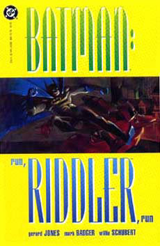 Run, Riddler, Run cover, by Mark Badger