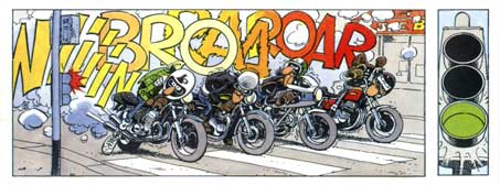Comic Book Motorcycle Humorous Motorcycle Comic