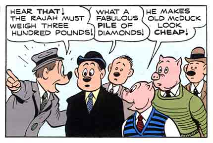 comic panel by Carl Barks