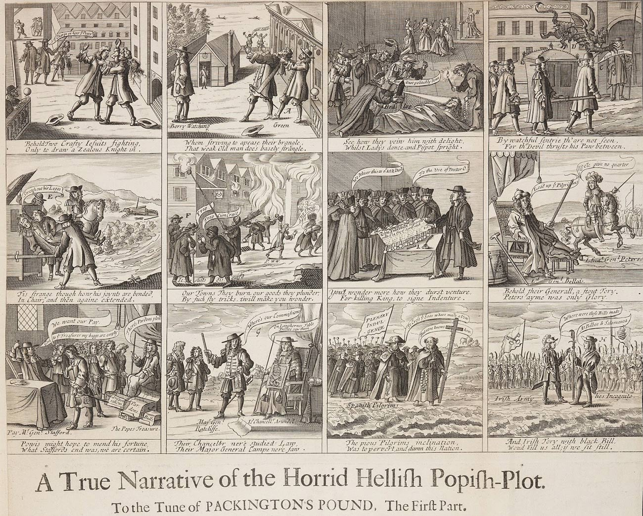 The Horrid Hellish Popish Plot, by Francis Barlow 1682