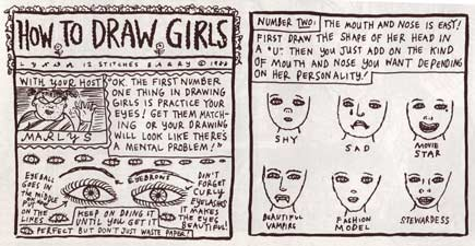 How to Draw Girls, by Lynda Barry