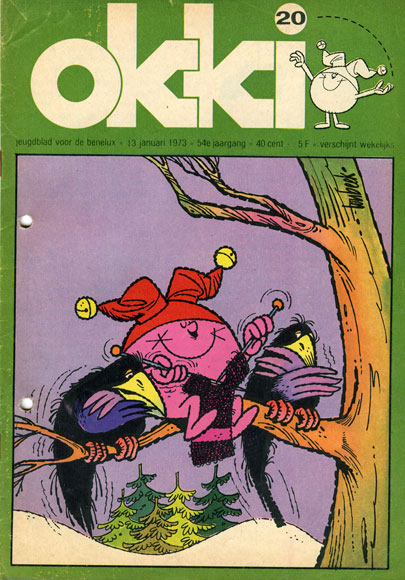 Okki cover door Ton Beek, 1973