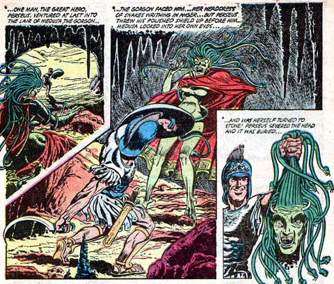 Ghost of the Gorgon (Ghost Comics #10, 1954) by Johnny Bell