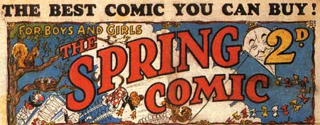 Header of Spring Comic, by Walter Bell