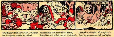 comic strip for Der Schmetterling by Benze