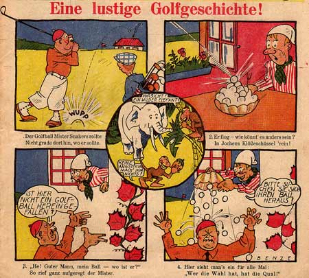 front page comic for Der Schmetterling by Benze