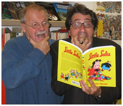 Lambiek's Kees Kousemaker and Charles Berberian enjoying Little Lulu