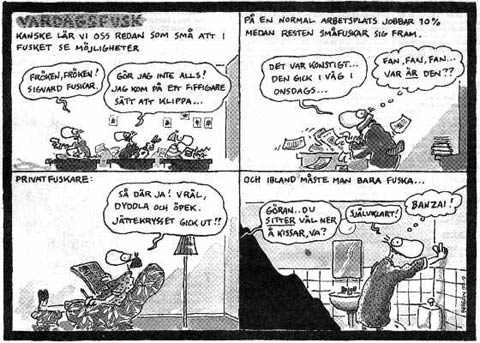 comic strip by Jan Berglin