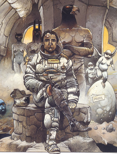 comic art by Enki Bilal