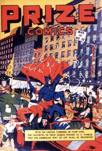 Prize Comics cover, by Jack Binder (1942)