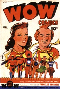 Wow Comics cover, by Jack Binder