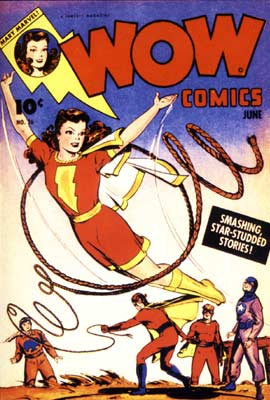 Wow Comics cover, by Jack Binder (1944)