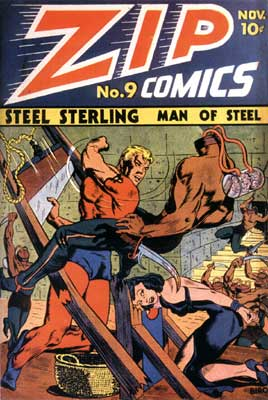 Zip Comics cover, by Charles Biro (1940)