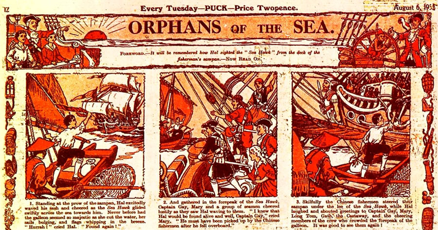 Orphans of the Sea, by Walter Booth