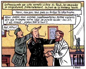 Blake et Mortimer parody from Ferraille, by Emile Bravo