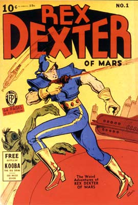 Rex Dexter of Mars, by Dick Briefer (1940)