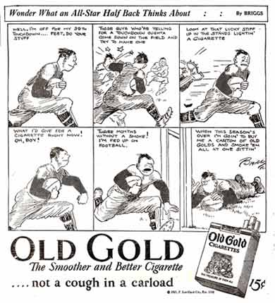 early advertising strip by Austin Briggs