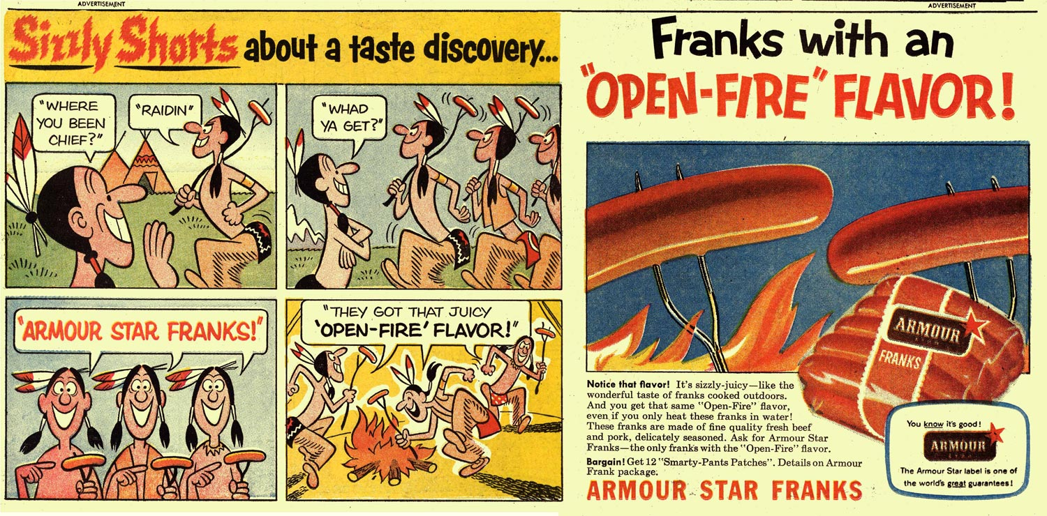 Advertising for Franks, by Dik Browne (1956)