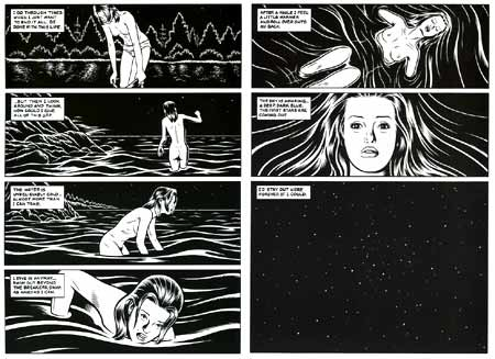 Final sequence of Black Hole, by Charles Burns
