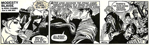 Modesty Blaise by John M. Burns