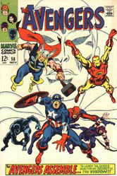Cover of Avengers, by John Buscema
