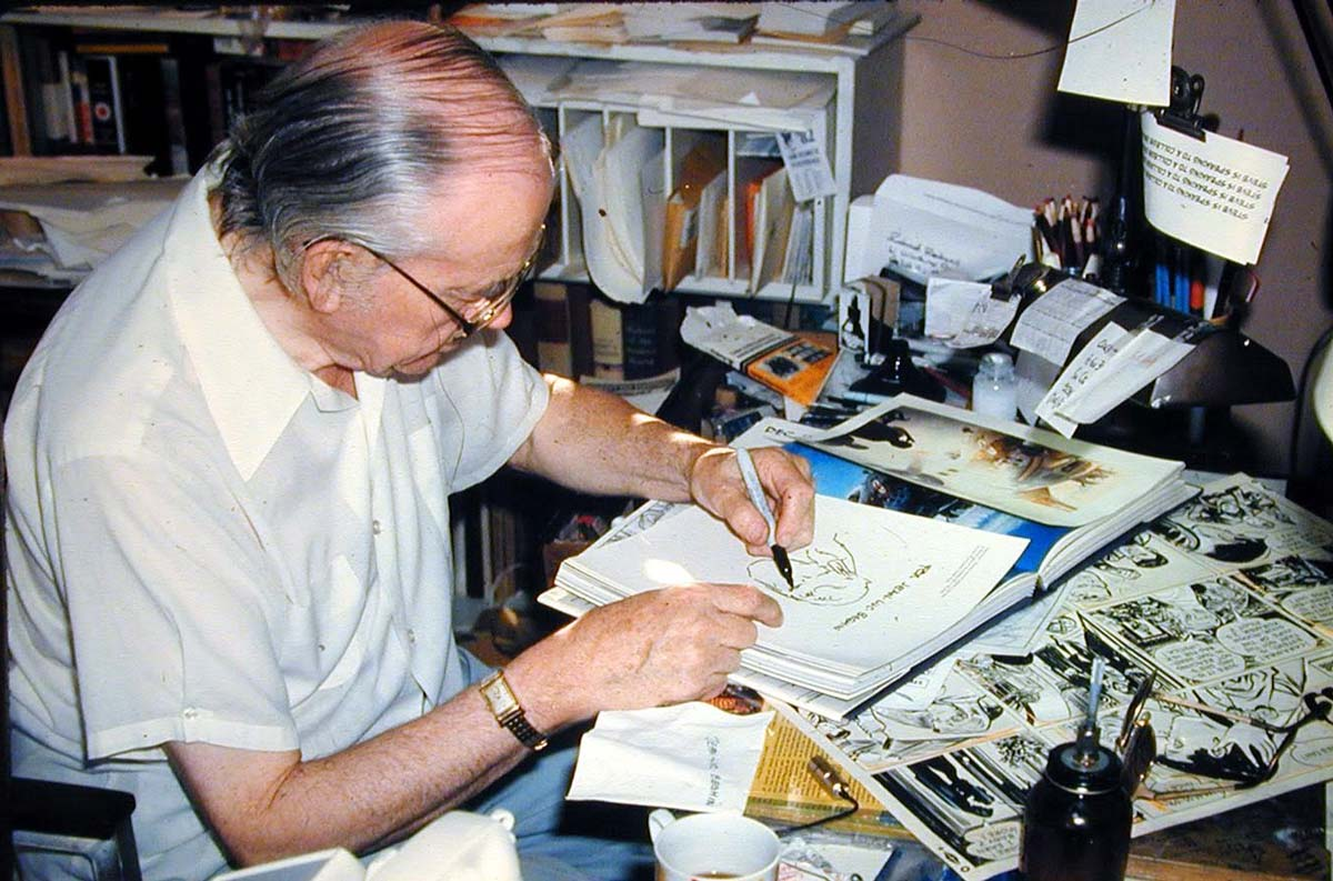 Milton Caniff photo © Jean-Luc Beghin