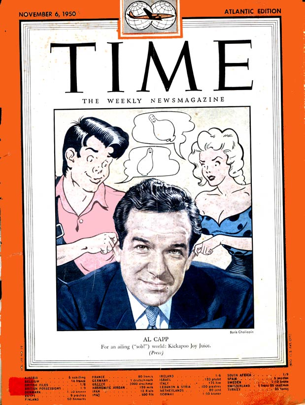 Al Capp in Time Magazine