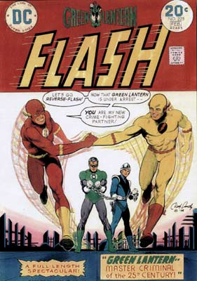 DC comics cover for Green Lantern and The Flash, by Nick Cardy
