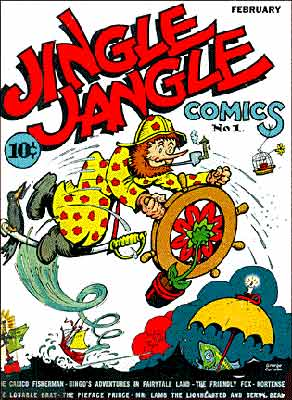 Jingle Jangle comics cover, by George Carlson
