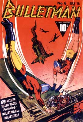 Bulletman cover, by Al Carreno (1942)