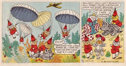 comic art by Ruth Carroll (1945)
