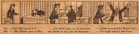 gag strip by Cip (Le Pelerin, 1932)